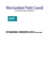 thumbnail of Standing Orders 2018 v3