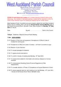 thumbnail of AGM Agenda May 2021